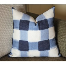 Pillows,blue pillow, Blue Plaid Pillow, Buffalo Check Pillow, Throw Pillows, High End Geometric Pillows, Pillow Covers 388