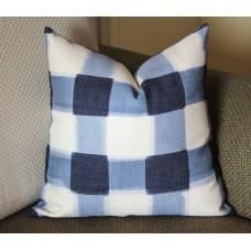 Pillows,blue pillow, Blue Plaid Pillow, Buffalo Check Pillow, Throw Pillows, High End Geometric Pillows, Pillow Covers 388