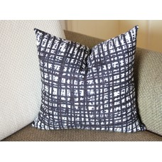 black Channels Pillow Cover - Black Pillow - Designer Geometric Pillow Cover Invisible Zipper Closure, Toss Pillow, Accent Pillow 389