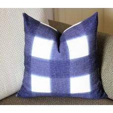 dark blue Pillows,Pillows,Dark Blue Plaid Pillow, Buffalo Check Pillow, Navy Throw Pillows, High End Geometric Pillows, Pillow Covers 390