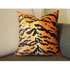 Leopard thin Tiger Velvet Pillow Cover - Animal Print Throw Pillow - Gold and Black Short plush Velvet Pillow - Lumbar pillow 394