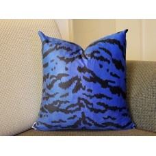 Leopard thin Tiger Velvet Pillow Cover - Animal Print Throw Pillow - blue and Black Short plush Velvet Pillow - Lumbar pillow 395