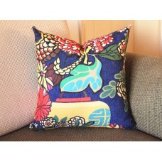 9 colors Designer Pillow - Chinese Dragon Flowers Pillow Cover in Alabaster 426