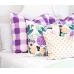 Pillows,violet pillow, violet Plaid Pillow, Buffalo Check Pillow, Throw Pillows, High End Geometric Pillows, Pillow Covers 427