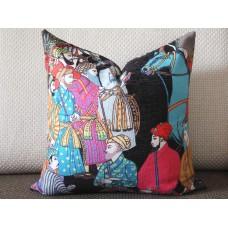 Designer pillow Dara Turquoise Pillow Cover Throw Pillow Cover - Decorative Pillow - black pillow cover 429