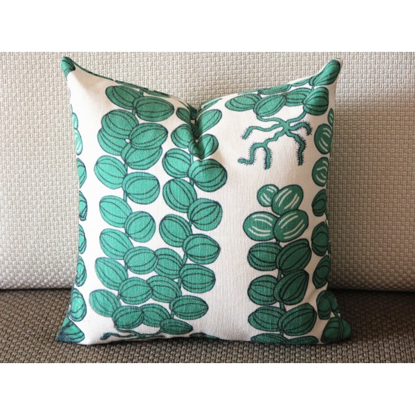Designer Pillow - Decorative Pillow Cover - Green Caulis pillow - flower stalk Pillow 432