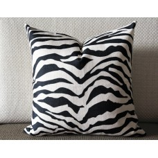 Linen Pillow - black /gray white Zebra pattern geometrical Pillow Cover - lumbar Pillow - printing Throw Pillow Cushion Covers 434
