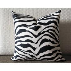 Linen Pillow - black /gray white Zebra pattern geometrical Pillow Cover - lumbar Pillow - printing Throw Pillow Cushion Covers 434