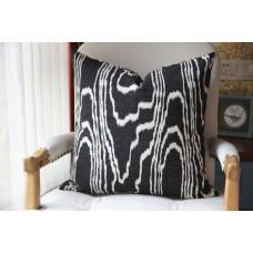 Black Agate Pillow Cover - Black Agate Pillow Cover - Dark Blue Pillow - Black Pillow - Light Brown Pillow - Designer Geometric Pillow Cover 444