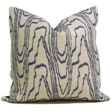 Dark Blue Agate Pillow Cover - Black Agate Pillow Cover - Dark Blue Pillow - Black Pillow - Light Brown Pillow - Designer Geometric Pillow Cover 444