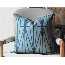 Teal Katana Pillow Cover - Teal Color Pillow - Designer Geometric Pillow Cover 445