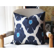 poppy pillow cover in Blue, Decorative Throw Pillow, Accent Cushion Cover, Home Decor, Pillow Covers, 449
