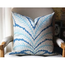 Talavera Blue Pillow Cover , Decorative Throw Pillow, Accent Cushion Cover, Home Decor, Pillow Covers, 450