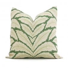 Green Talavera Linen Pillow Cover by Brunschwig & Fils Decorative Pillow Cover 18x18, 20x20, 22x22 euro Lumbar pillow, Accent Pillow 450
