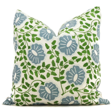 Christopher Farr Blue and Green Punch Paisley Decorative Pillow Covers 18x18, 20x20 or 22x22, 24x24, 26x26 or lumbar pillow cover 467