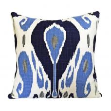 John Robshaw Blue Ikat Fabric for Pillow Covers by Pillowtimegirls - 12 x 16, 14 x 20, 14 x 24, 16 x 16, 18 x 18, 20 x 20, 22 x 22, 24 x 24 470