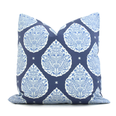 Blue Lotus Flower Decorative Pillow Cover, Throw Pillow, Accent Pillow, Pillow Sham Lacefield Textiles 473