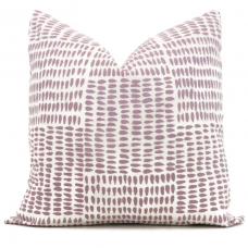 Sister Parish Albert Parma Decorative Pillow Cover 18x18, 20x20, 22x22, Eurosham or lumbar, Lavender white cushion, purple 476