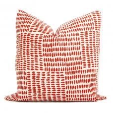 Sister Parish Albert Parma Decorative Pillow Cover 18x18, 20x20, 22x22, Eurosham or lumbar, Lavender white cushion, red 476