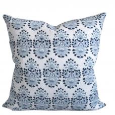 Back ordered mid September- John Robshaw Lanka Fabric in Lapis - Linen Pillow Cover  477