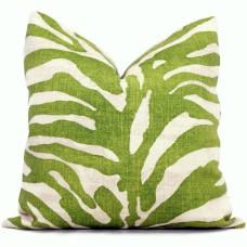 Thibaut Green Serengeti Tiger Decorative Pillow Cover 18x18, 20x20, 22x22, Eurosham or lumbar  478