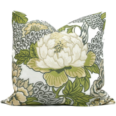 Thibaut Honshu Robins Egg Chinoiserie Floral Decorative Pillow Cover 18x18, 20x20, 22x22, Eurosham or lumbar 481