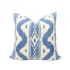 Quadrille Bali Hai pillow cover in Blues on Tint 2020-01 // Designer pillow // High end pillow // Decorative pillow  484
