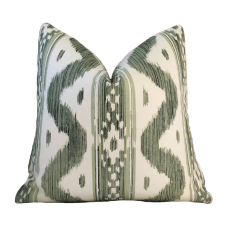 Quadrille Bali Hai pillow cover in Green on Tint 2020-01 // Designer pillow // High end pillow // Decorative pillow  484