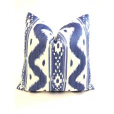 Quadrille Bali Hai pillow cover in Dark Blues on Tint 2020-01 // Designer pillow // High end pillow // Decorative pillow  484