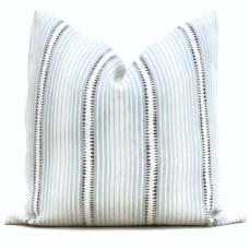 Schumacher Moncorvo Light Blue Stripe Decorative Pillow Cover, Made to order,throw, toss pillow cover 492