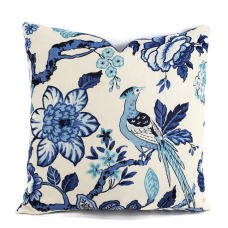 Schumacher Pillow Cover Timothy Corrigan Blue Huntington Gardens Decorative Pillow Cover, Toss Pillow, Throw Pillow, Accent Pillow 493