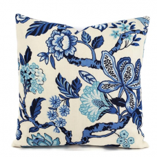 Schumacher Pillow Cover Timothy Corrigan Blue Huntington Gardens Decorative Pillow Cover, Toss Pillow, Throw Pillow, Accent Pillow 494