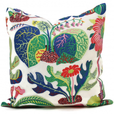 OUTDOOR Decorative Pillow Cover Exotic Butterfly in Spring 18x18, 20x20, 22x22, 24x24, Eurosham, Lumbar Pillow, Floral pillow, Josef Frank 495