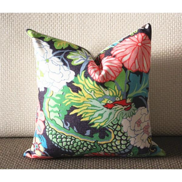 Unique Decorative Pillow Accent Pillow blue geometric light blue pillow  SB68