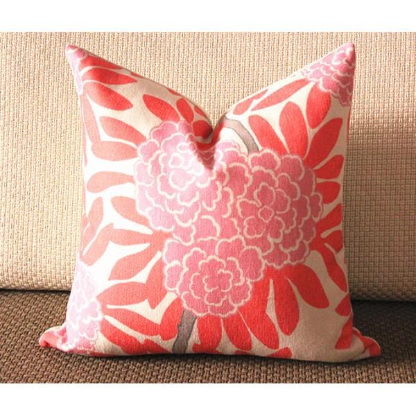 decorative pillow throw pillow pillow cover china seas pillow pink