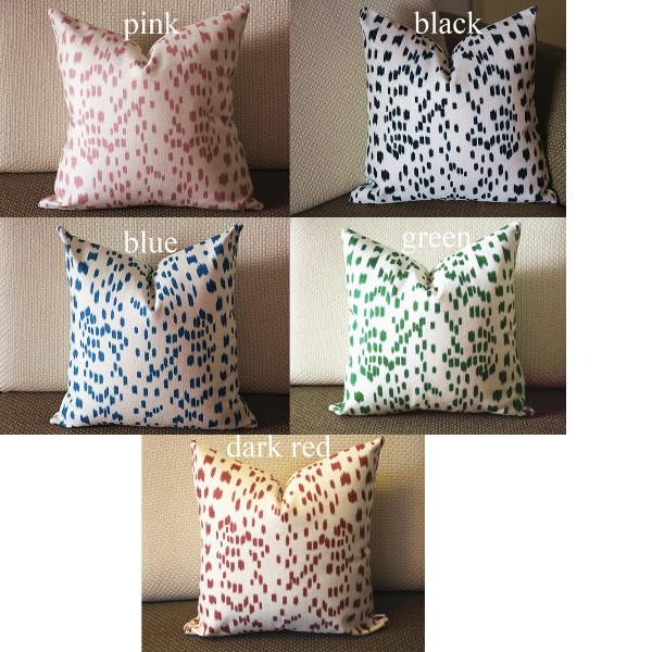 high end pillow Animal Print pillow Les Touches pillow Euro