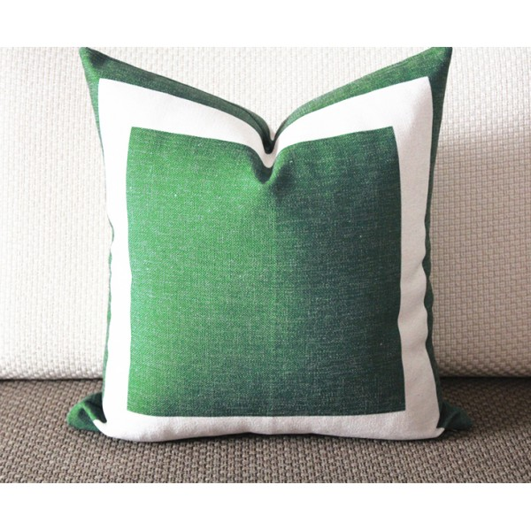 Finest designer pillow green linen pillow green bed pillow green toss  VC88