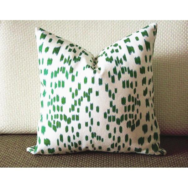 Touches Green Decorative Throw Pillow Cover Lumbar 340