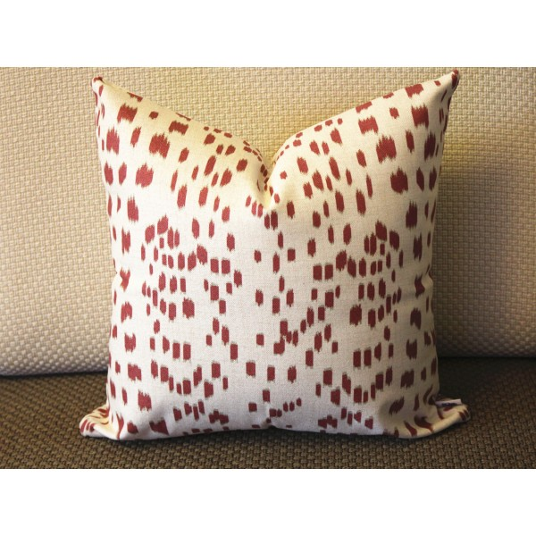 Les Touches Dark Red Decorative Throw Pillow Cover Brown Lumbar 393