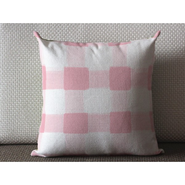 Pillows Pink Pillow Cover Buffalo Check Throw High End Geometric Covers 435