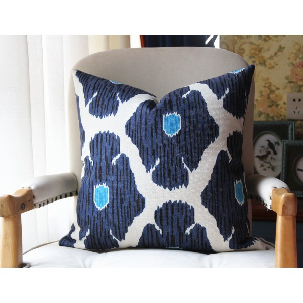Poppy Pillow Cover In Blue Decorative Throw Accent Cushion Home Decor Covers 449
